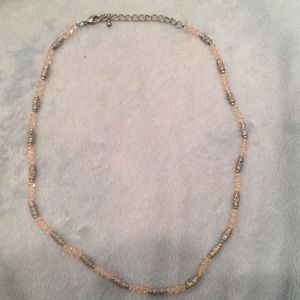 Jewelry - Ice Pink and Silver Beaded Necklace